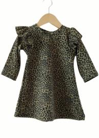 Ruffle dress khaki