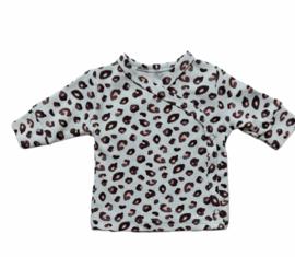 Overslag shirt leopard pastel
