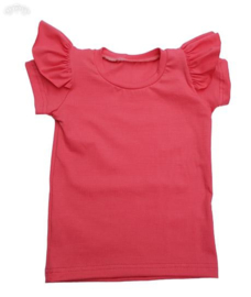 ruffle shirt  coral