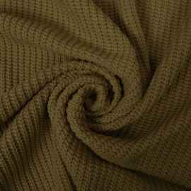 big knit khaki