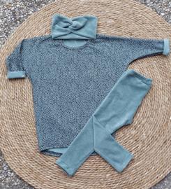 legging fine rib jersey dusty mint