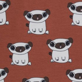 French terry pugs rusty  elvelyckan design
