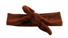 Haarbandje rib cognac