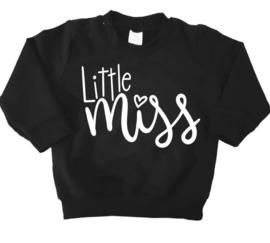 sweater little miss zwart