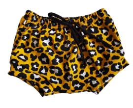 Bummie leopard geel