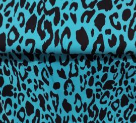 tricot leopard blauw