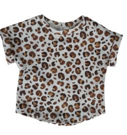 Shirt leopard ecru/bruin