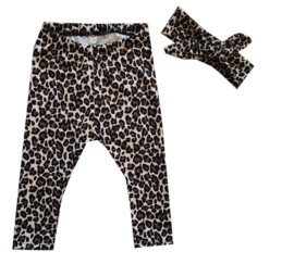 Legging leopard bruin