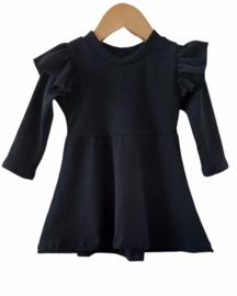 Ruffle dress zwart