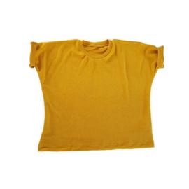 Oversized shirt badstof geel