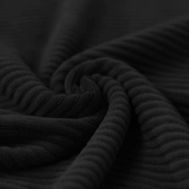 Big knited corduroy zwart
