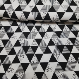 tricot triangel zwart/wit