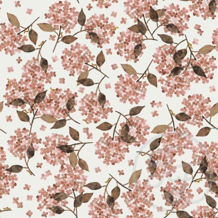 Hoeslaken hortensia rosy