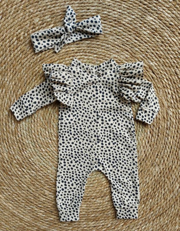 Boxpakje cheetah beige dots