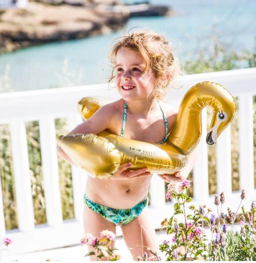 Gouden Zwaan Kinder Zwemband Opblaasbaar 3+