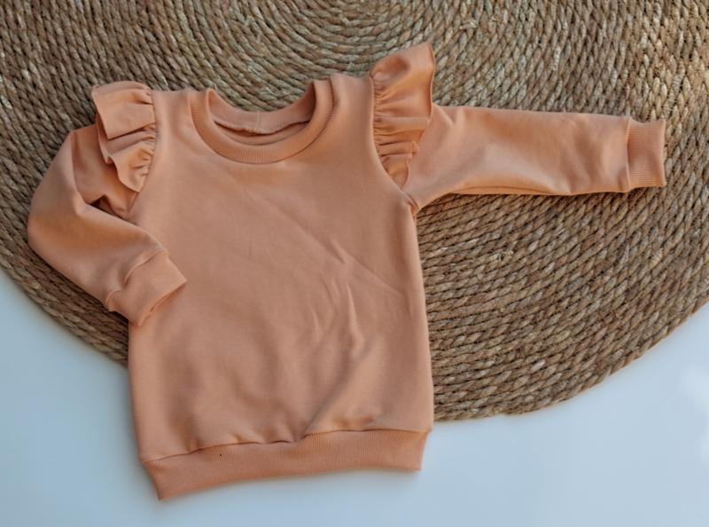 ruffle sweater  poeder bruin