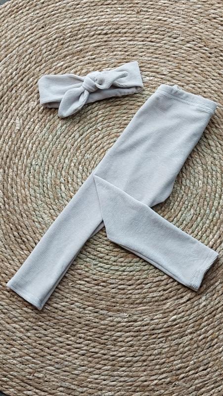 legging fine rib jesey sand