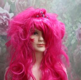 Pruik Neon Pink