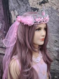 Sluier-Tiara Pink