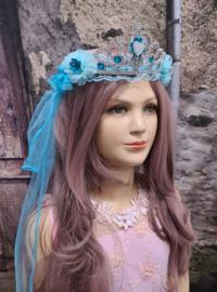 Sluier-Tiara Turquoise