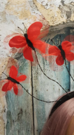 Diadeem Rode Vlinders