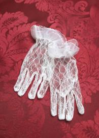 Handschoentjes Kant Wit