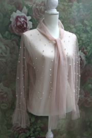 Blouse Transparant Parels