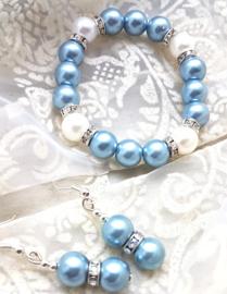 Oorbellen en Armband Ice Blue