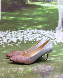 Schoen Pink&Silver Glitter
