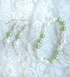Oorbellen en Armband Fairy Green