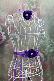 Tailleband + Haarband Purple