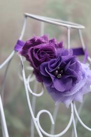 Haarbandje Shabby Purple