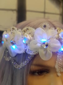 Hoofd Deco Flowers&Pearls LED