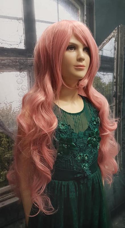Pruik Longest Pink