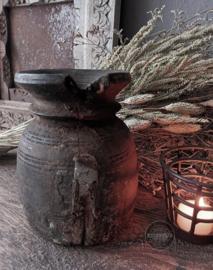 Oud Houten Nepalees Vaasje