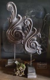 Houten Ornament   Vintage Black
