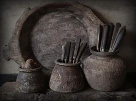 Schilders paneel keuken potten horizontaal