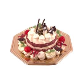 Stoofpeer Sabayon pudding op schaal