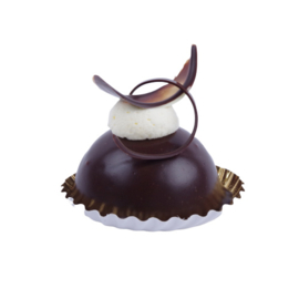 Chocolade bolletje gebak