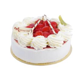 Aardbeienkwark taart 6-8 personen