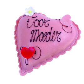 Moederdag roze hartje