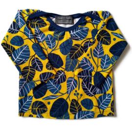 Shirt Blue leaves maat 62