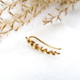 Gouden leafy faux cuf