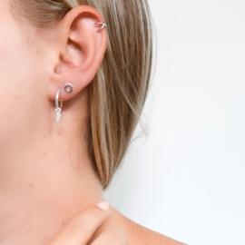 Zilveren faux earcuff
