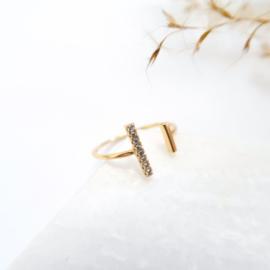 Gouden bar ring