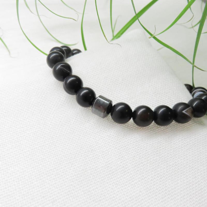 Mat zwarte agaat