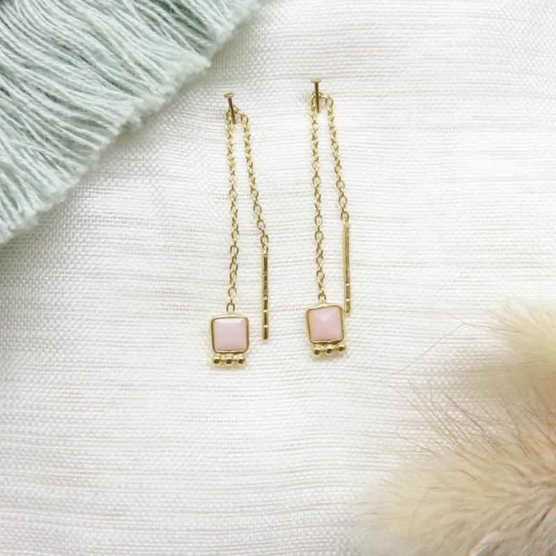 Muja Juma oorhangers roze opaal