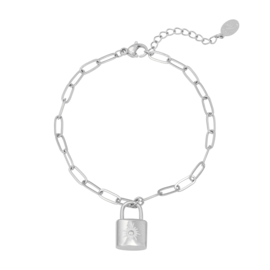 Armband 'Little Lock' - zilver