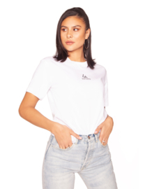 LA Sisters 'Basic Mini Logo Tee' - wit