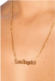 LA Sisters 'Los Angeles Necklace' - goud
